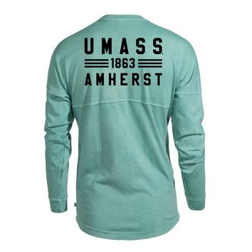 Massachusetts Minutemen UMass Amherst NCAA T-Shirt Women's Long Sleeve Spirit Wear Jersey T-Shirt