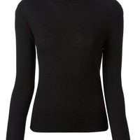 Ermanno Scervino back pleat roll neck sweater