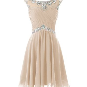 Women's Short Prom Dresses Sexy Homecoming Dress Chiffon Birthday Party Dress