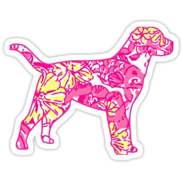 'Lilly Pulitzer Inspired Dog | 142309' Sticker by msul