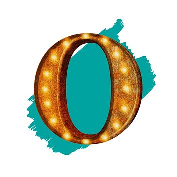 """24"""" Letter O Lighted Vintage Marquee Letters (Rustic)"""