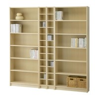 "BILLY/BENNO Bookcase combination - birch veneer - 78 3/4x79 1/2 "" - IKEA"