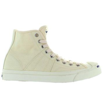 Converse Jack Purcell Johnny Hi - Natural/Navy Canvas High Top Sneaker