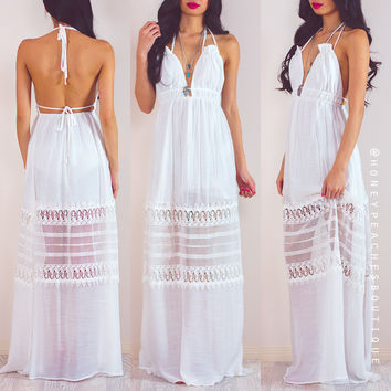 Rylee Maxi Dress - White by Le Salty Label