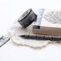 Black Lace Washi Tape