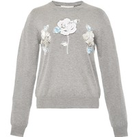 Flower Applique Sweater
