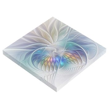 Floral Fantasy, Colorful Abstract Fractal Flower Gallery Wrap