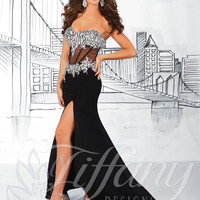 Strapless Sweetheart Formal Prom Dress Tiffany Designs 16050