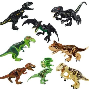 Jurassic World 2 Park Dinosaurs Tyrannosaurs Rex Carnotaurus Indoraptor Building Blocks Figures Toys Compatible With Lego
