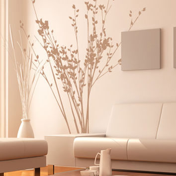 Vinyl Wall Decal Sticker Flower Bush Branches #MMartin139