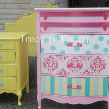 Jocelyn -Vintage French Chest of Drawers  MADE TO ORDER