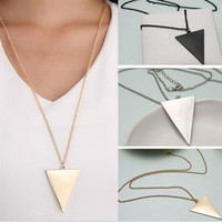 Geometric Necklaces for Women Pendant Necklace Plated Gold Chain Fashion Jewelry