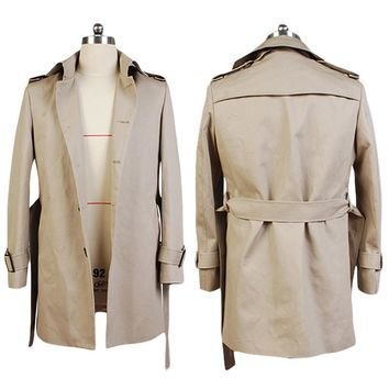 Constantine John Constantine Cotton Twill Trench Coat Cosplay Costume Jackets Coats
