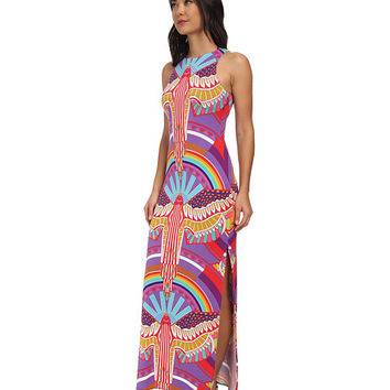 Mara Hoffman Maxi Tank Dress Rainbow Bird Lilac - 6pm.com