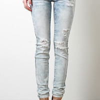 Washed Out Distressed Skinny Jeans