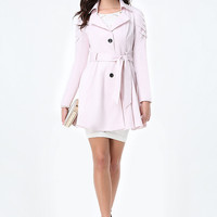 AINE PLEATED SLEEVE COAT