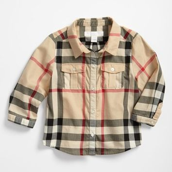 Infant Boy's Burberry Check Print Shirt,