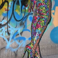Nelly B Jayda Rainbow Snake Thigh High Boot Plus Size Friendly Limited Edition