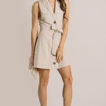 Callie Sleeveless Utility Dress