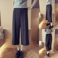 Womens Black Loose Pants Summer Gift 73