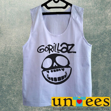 Men's Basic Tank Top - Gorillaz Logo Design