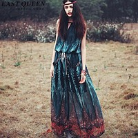 Hippie bohemian style boho hippie dress mexican embroidered dress boho chic dresses KK1430 H