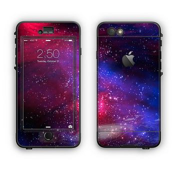 The Vivid Pink Galaxy Lights Apple iPhone 6 LifeProof Nuud Case Skin Set