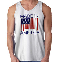 made in america barcode For Mens Tank Top Fast Shipping For USA special christmas ***