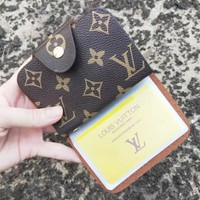 LV Louis Vuitton  New Fashion Monogram Leather Personality Card Package