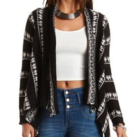 Striped Fringe Cardigan Sweater by Charlotte Russe