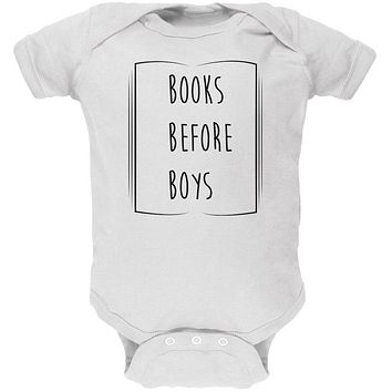 Education Smart Women Books Before Boys Soft Baby One Piece