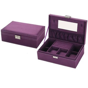 Luxury Large High quality flannelette jewelry display  Multi-creative popular jewelry box Portable jewellery storage cases
