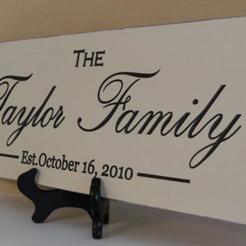 Personalized Family name sign Shabby Chic by michaelswoodworks