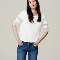 Scallop Lace Tee | LOFT