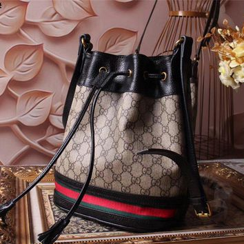 Gucci Women's New Style Leather Vintage Inclined Shoulder Bag