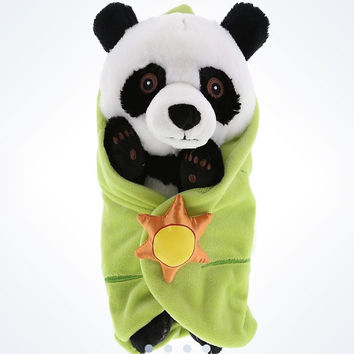 disney parks baby panda with blanket plush new with tags