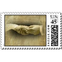 With this Ring, Romantic Vintage Wedding Love Postage Stamp