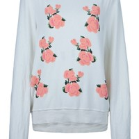 WILDFOX rose sweatshirt