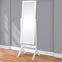Best Choice Products Cheval Floor Mirror Bedroom Home Furniture- White