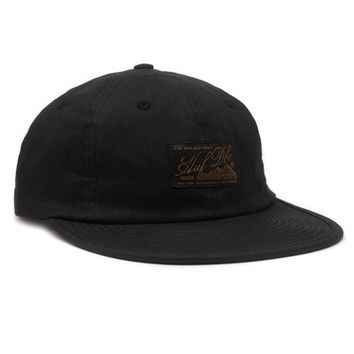 HUF - EXPEDITION WAXED 6 PANEL // BLACK