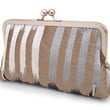 Ikat stripe silk clutch purse bag by redrubyrose on Etsy