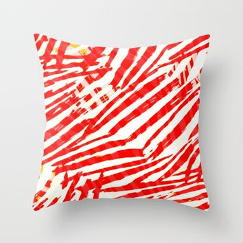 let's go a red blood trip Throw Pillow by hardkitty