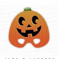 Halloween Mask, Jack-O-Lantern Printable Mask, Happy Pumpkin Costume, Jack O Lantern, Masquerade, Cute Costume, Party Mask, For Kids, Gourd