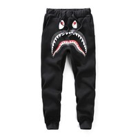 spbest A Bathing Ape x Shark Logo Camo  Sweat Pants