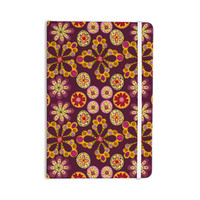 "Jane Smith ""Indian Jewelry Floral"" Purple Gold Everything Notebook"