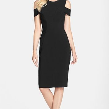 Women's Clove Cold-Shoulder Sheath Dress ,