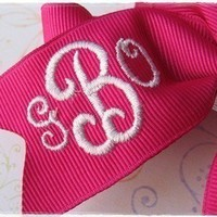 Monogrammed Boutique Hair Bow 3 Initial / by PreciousAngelBows