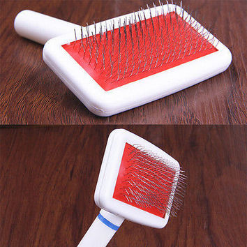 Pet Puppy Dog Cat Hair Shedding Grooming Trimmer Fur Comb Brush Slicker 3C