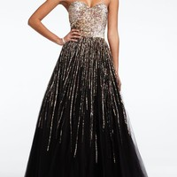 Strapless Sequin Embroidered Prom Dress - David's Bridal