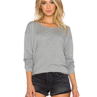 Gray Large Size Knit Shirt